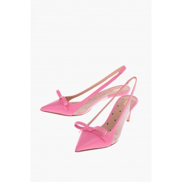 Red Valentino Women 6cm Leather Slingback pumps with Bow On Line DWBL896
