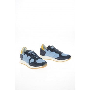 Philippe Model Paris Women Fabric and Leather MONACO VINTAGE Sneakers online shopping ANYY802